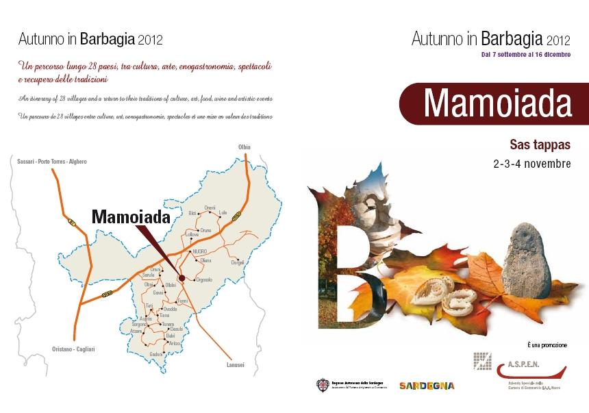 Cartina Autunno in Barbagia a Mamoiada 2-3-4 Novevembre 2012 Sas Tappas, Cortes apertas a Mamoiada 2-3-4 novembre 2012.jpg