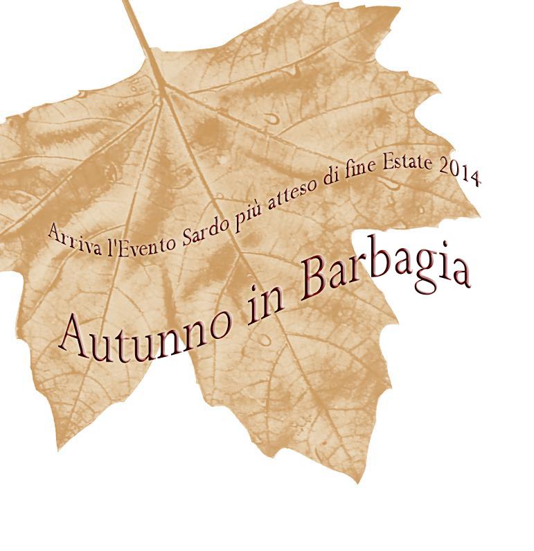 Autunno in Barbagia dal 5 settembre al 14 dicembre 2014 copia
