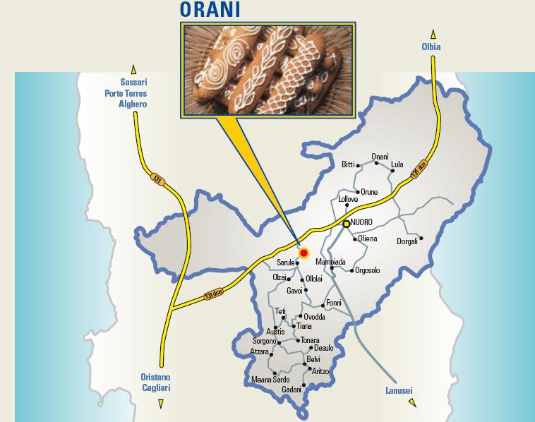 Cartina Cortes Apertas Orani 27 28 29 settembre 2013