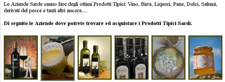 Prodotti Tipici Sardi, Produzione e Vendita in Sardegna