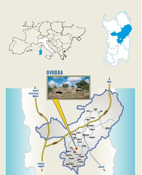 Cartina Cortes Apertas a Ovodda 8 9 10 Novembre 2013, Autunno in Barbagia a Ovodda Ungrones de bidda 2013