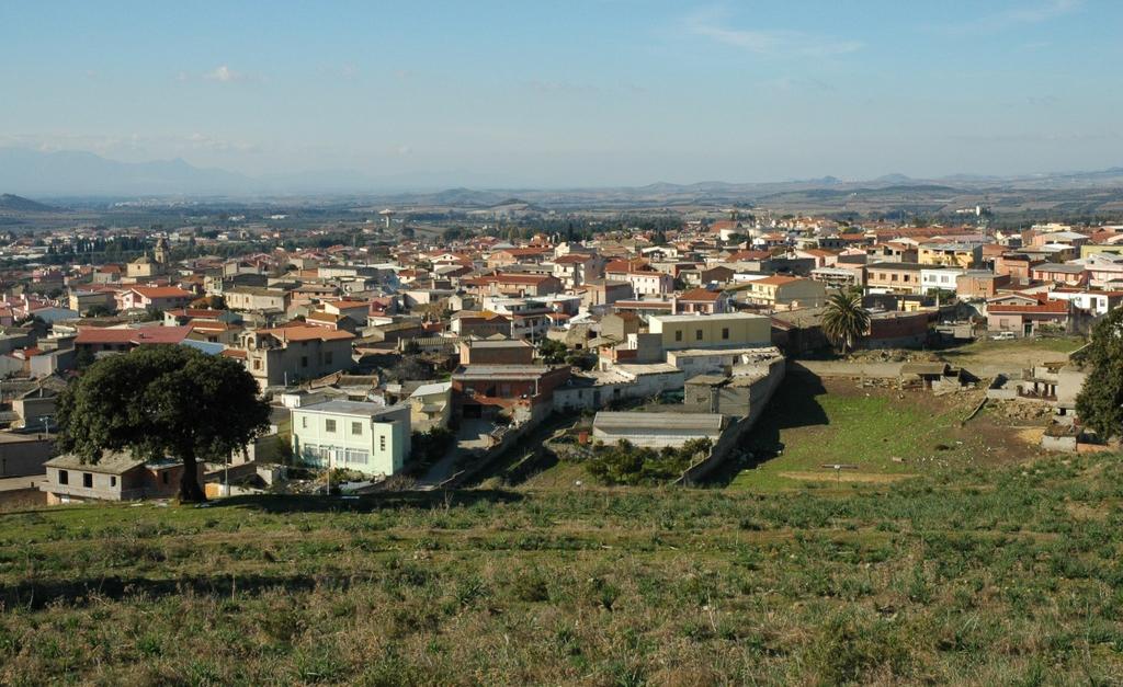 Dolianova panorama del centro abitato