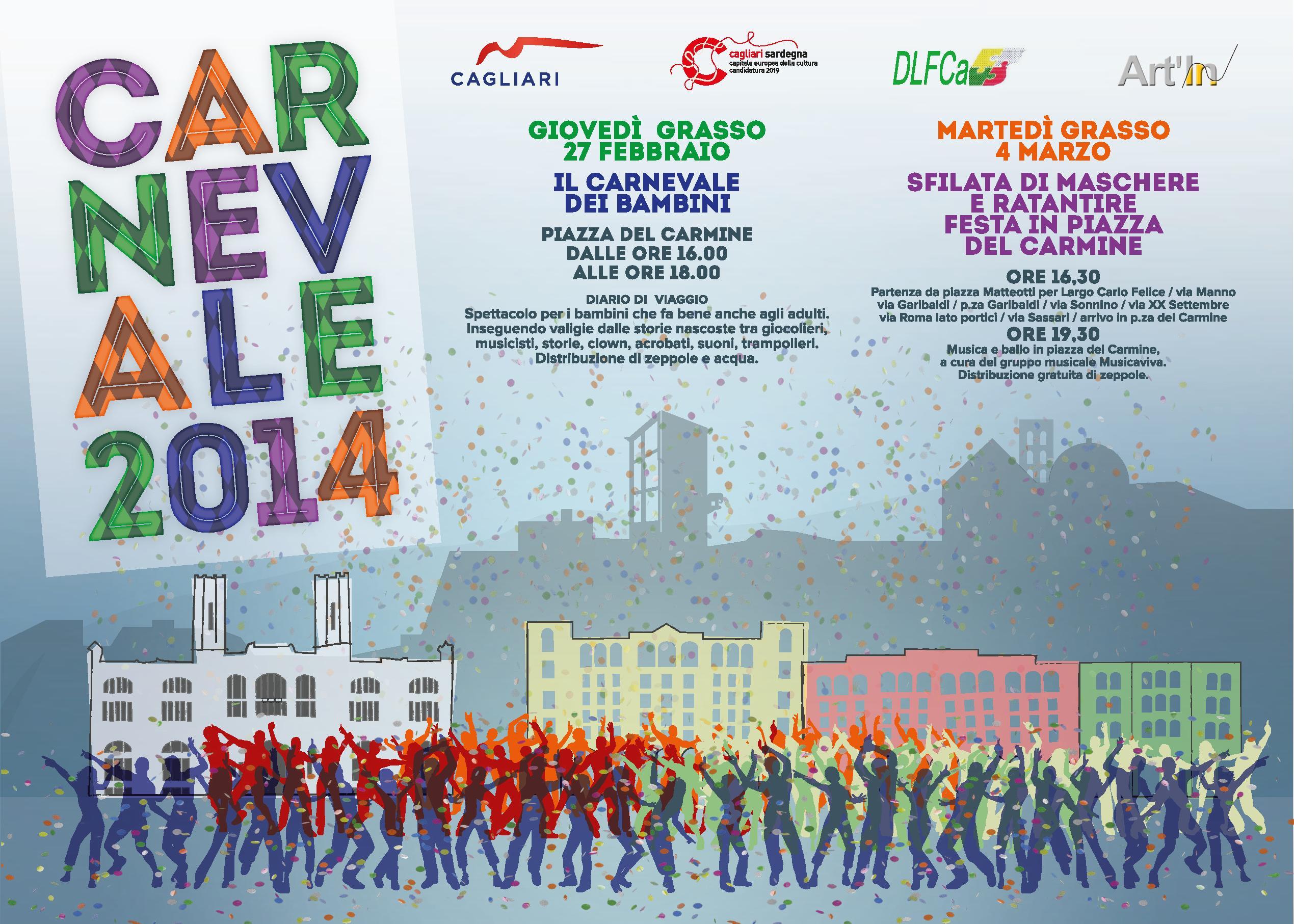 Carnevale 2014 a Cagliari Locandina