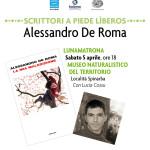 """Sabato 5 aprile 2014 alle ore 18 presso il Museo del territorio """"G. Pusceddu"""" Presentazione del libro di Alessandro De Roma """"La mia maledizione""""."""