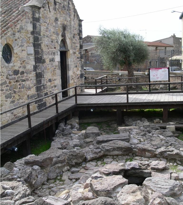Sardara area archeologica nella chiesa di Sant'Anastasia Monumenti Apeti 2014
