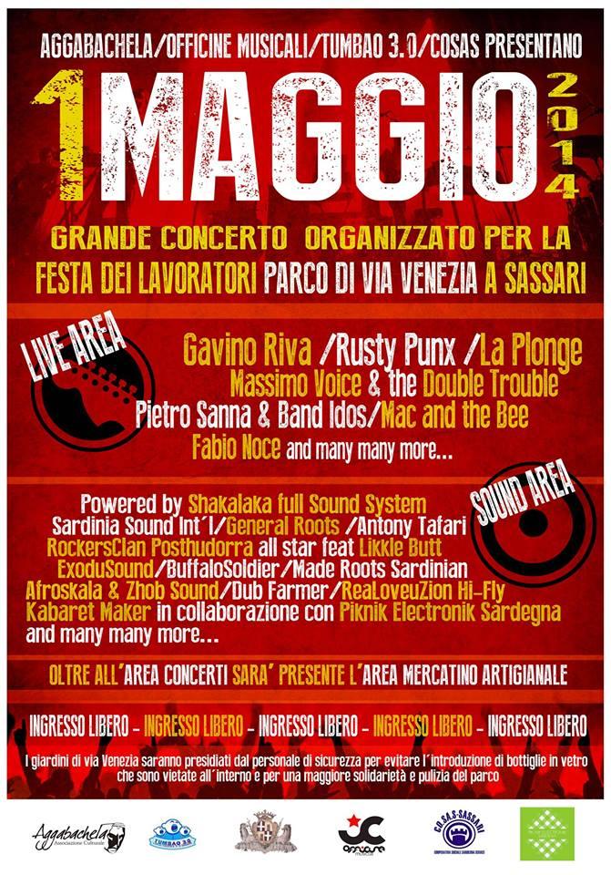Concerto 1 maggio 2014 Sassari al Parco di via Venezia