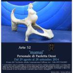 """Paoletta Dessì scultrice sarda dal 29 agosto al 28 settembre 2014 Museo naturalistico del territorio """"G. Pusceddu"""""""