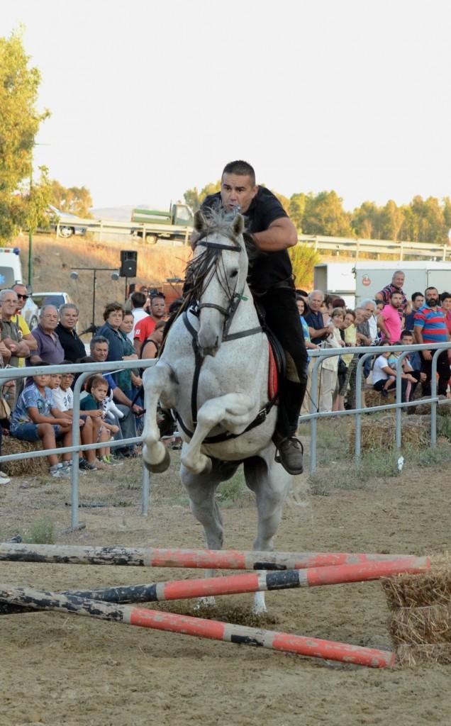 Una delle fasi della Gimkana a cavallo