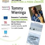 """Il Consorzio Turistico Sa Corona Arrùbia e l'Associazione Lìberos presentano il libro dello scrittore olandese Tommy Wieringa """"Questi sono i nomi"""" 07/09/2014."""