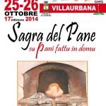 """Diciassettesima Sagra del Pane """"Su Pani Fattu in Domu"""" Villaurbana 25 e 26 Ottobre 2014."""