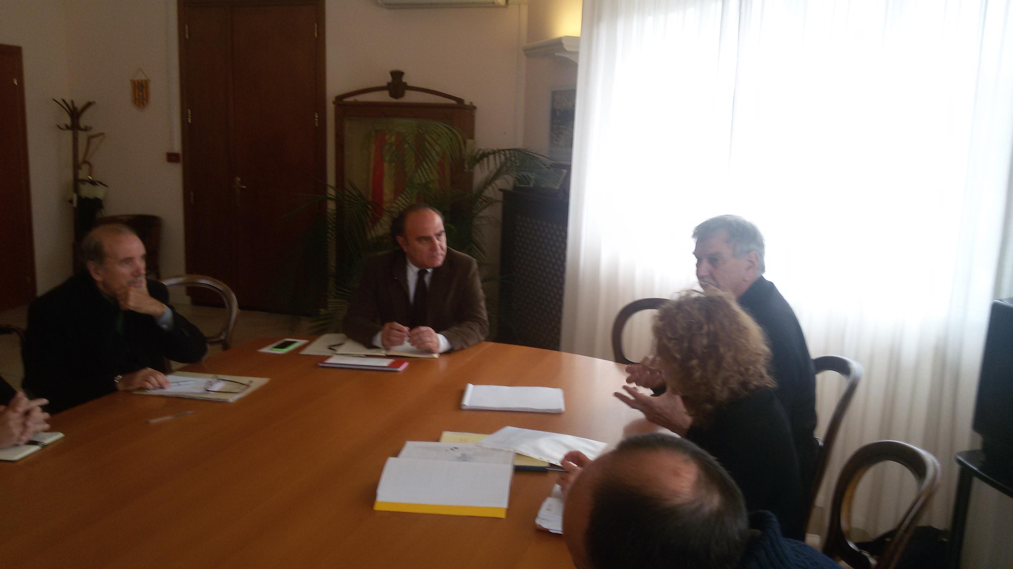 Ieri a Sant'Anna il sindaco Mario Bruno ha incontrato Willi Hüsler esperto in materia di programmazione urbanistica.
