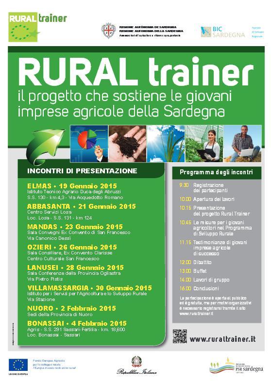 Rural Trainer il progetto che sostiene le giovani imprese agricole delle Sardegna