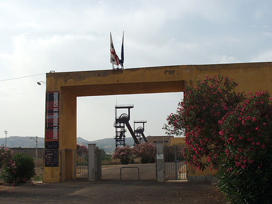 Grande Miniera di Serbariu ingresso Carbonia Provincia del Sulcis Iglesiente.