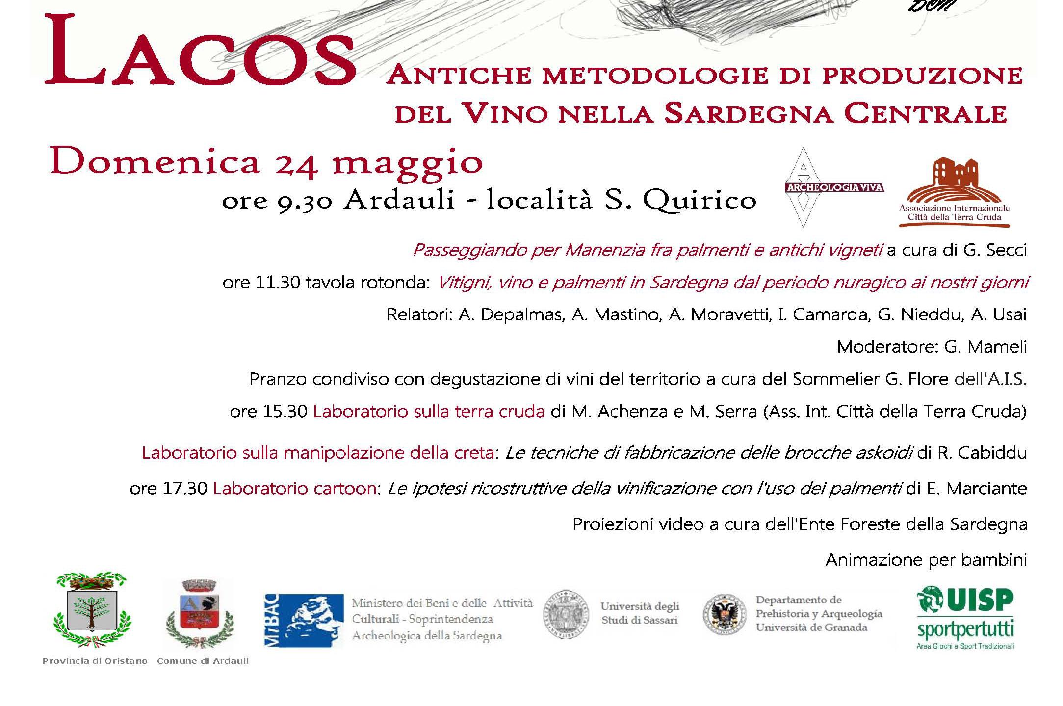 Lacos Archeosperimentare in Sardegna programma
