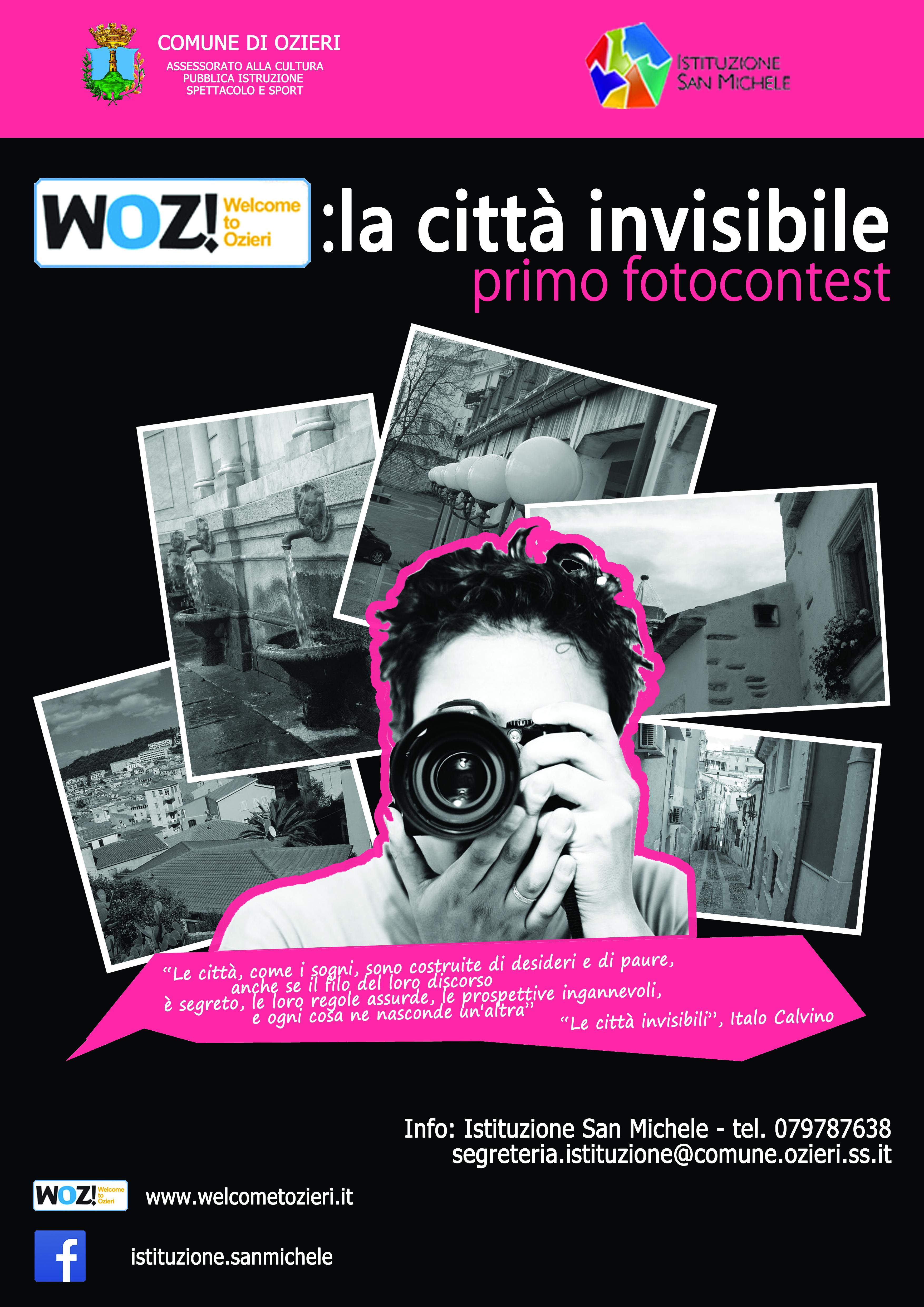 """L'Istituzione """"San Michele"""" indice il 1° Fotocontest """"WOZ! : la Città invisibile"""""""