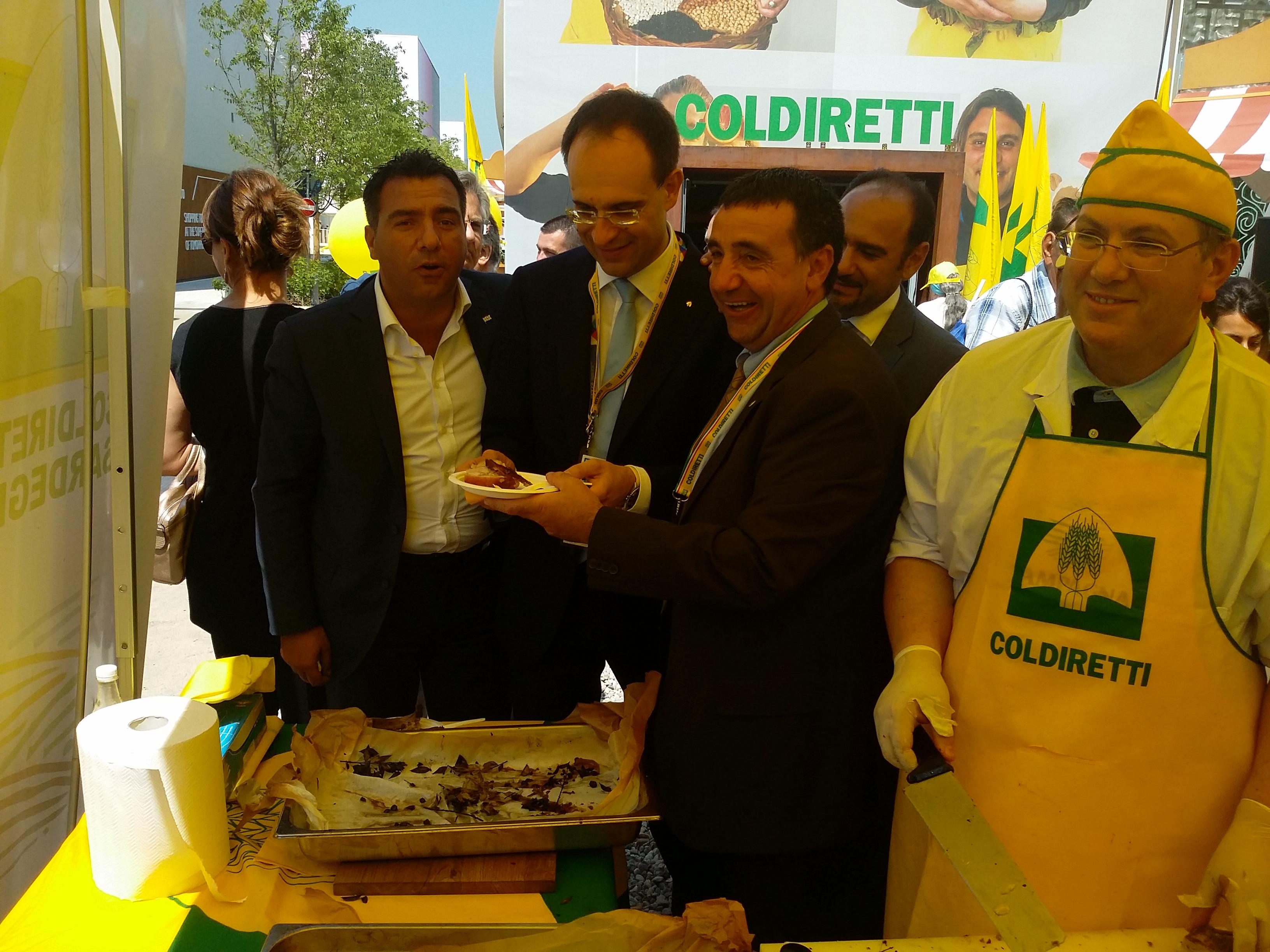 Oggi 26 giugno 2015 all'Expo nel Padiglione della Coldiretti è stato possibile degustare l'autentico Porcetto Sardo fuori dai confini isolani.