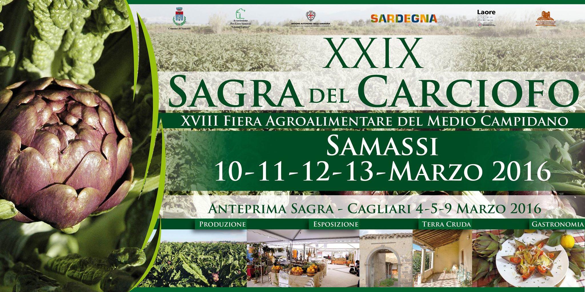 XXIX Sagra del Carciofo di Samassi dal 10 al 13 marzo 2016