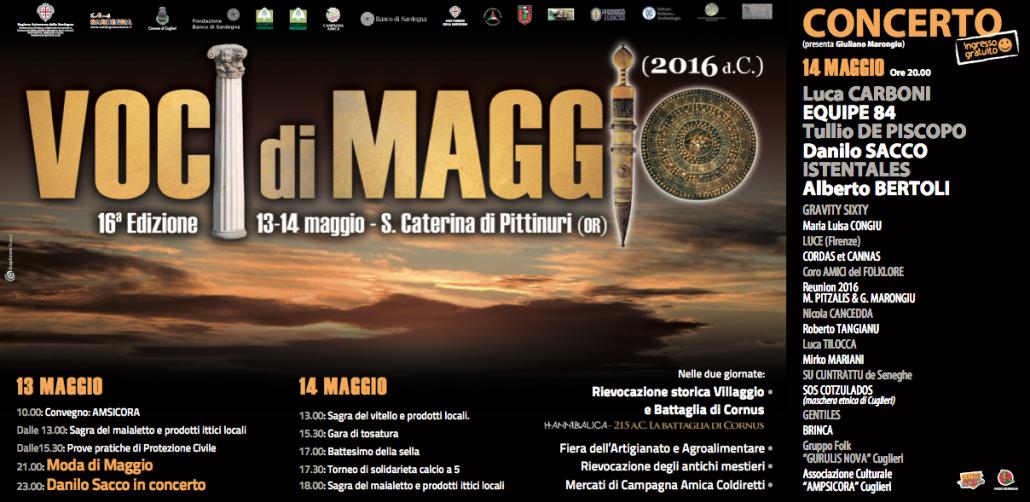 Voci di Maggio 2016 Sedicesima Edizione 13 e 14 maggio Santa Caterina di Pittinuri Oristano Sardegna, Sagre Eventi 2016