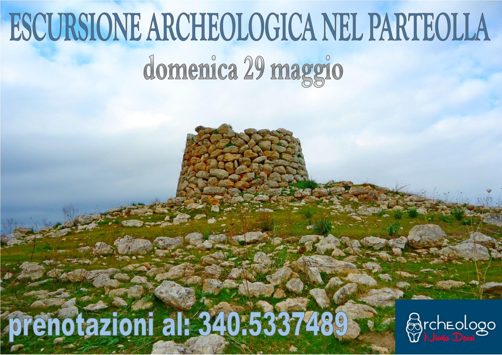 ESCURSIONE ARCHEOLOGICA NEL PARTEOLLA. Domenica 29 maggio 2016 Escursione Archeologica nel Parteolla con l'Archeologo Nicola Dessì quota di partecipazione 10 euro a persona.