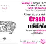 """Il 6 maggio 2016 a Ozieri al Centro Culturale San Francesco Daniela Piras presenta la raccolta di racconti  """"Crash""""."""