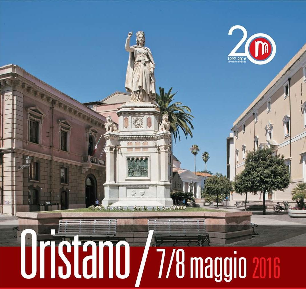 Monumenti aperti manifesto Oristano 2016. Monumenti Aperti 2016. Il 7 e 8 Maggio 55 i siti culturali aperti al pubblico a Oristano.