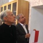 Gli auguri del Sindaco Guido Tendas a nome della città all'Arcivescovo Ignazio Sanna in occasione del decimo Anniversario della sua presenza in Oristano quale guida dell'Arcidiocesi.