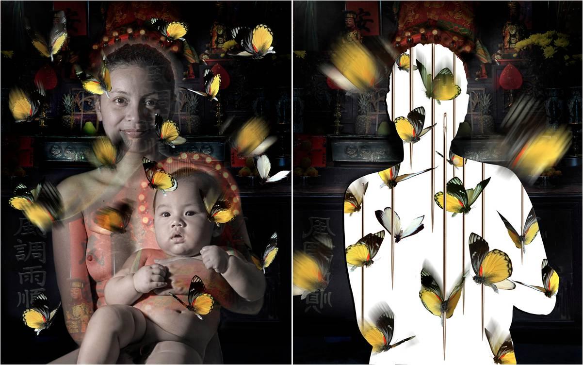 """FX Harsono Growing Pains 2009. Sguardi sul mondo attuale #1 Eastern eyes """"Arte contemporanea internazionale da una collezione privata in Sardegna"""" a Cagliari nel Centro d'Arte EXMA visitabile fino al 28 agosto 2016."""