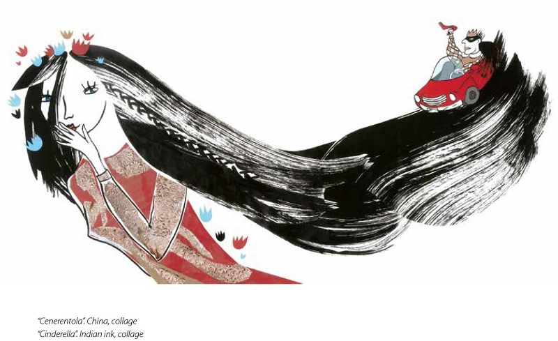 """Anne Pikkov Cenerentola. A Sassari Palazzo di Città la Mostra """"Once upon a time"""" illustrazioni di artisti estoni che raccontano le fiabe dei fratelli Grimm dal 5 luglio al 20 agosto 2016 con ingresso libero."""