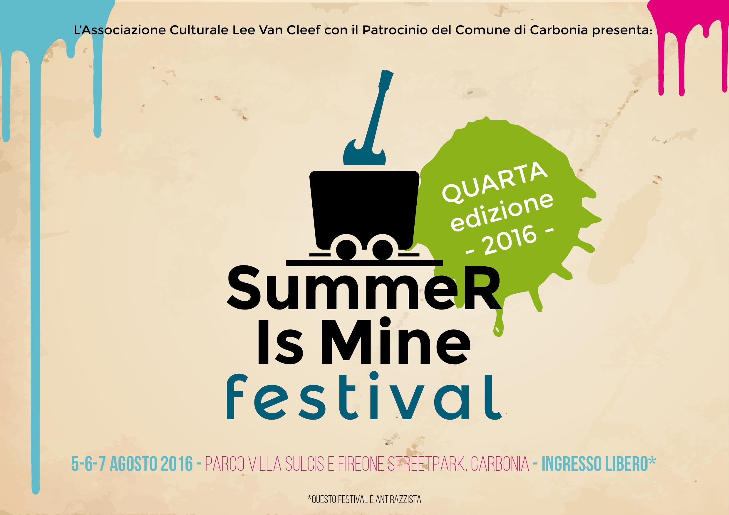 Summer Is Mine Festival Carbonia 5-6-7 Agosto 2016