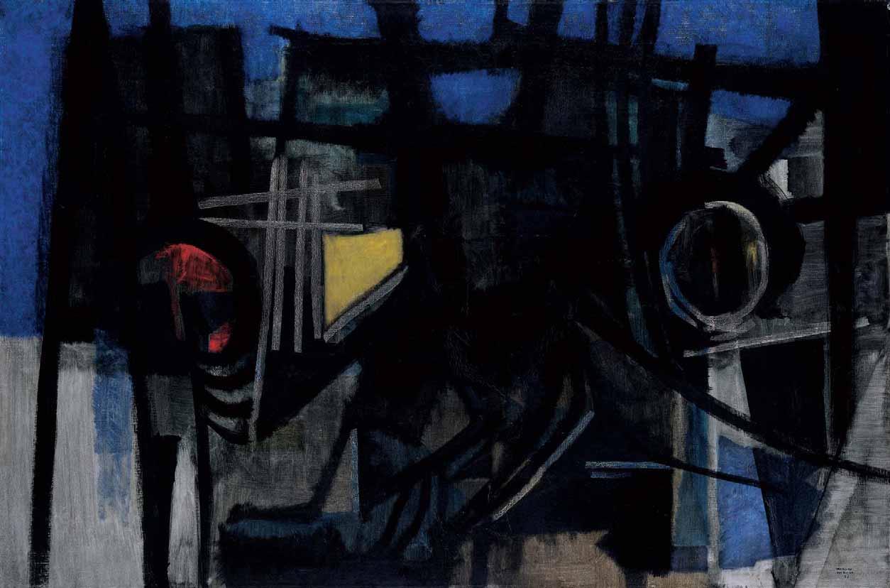 L'OMBRA DEL MARE SULLA COLLINA di Mauro Manco Opera del 1957, olio su tela, cm 84 x 126,5, Nuoro, MAN. L'OMBRA DEL MARE SULLA COLLINA di Mauro Manca Opera del 1957, olio su tela, cm 84 x 126,5, Nuoro, MAN.