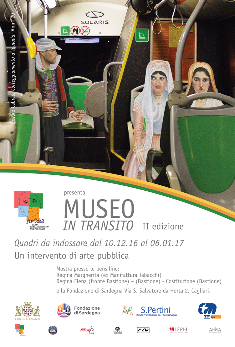 ArCoEs presenta MUSEO IN TRANSITO II edizione Quadri da indossare dal 10 dicembre 2016 al 6 gennaio 2017 a Cagliari.