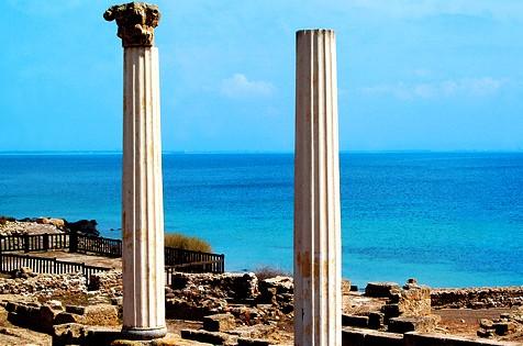 Cabras, le vestigia dell' antica città di Tharros