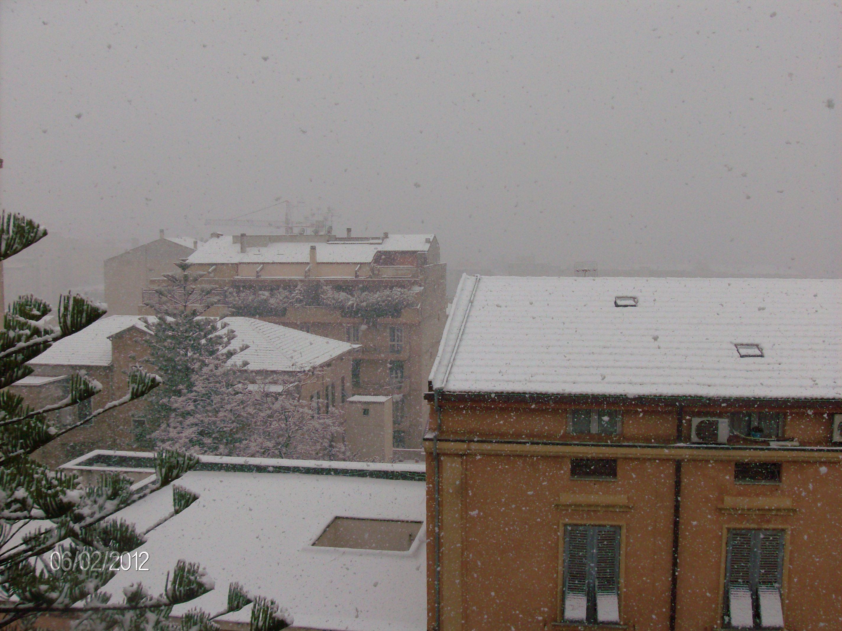 Sassari sotto la neve dal Portale Le Vie della Sardegna