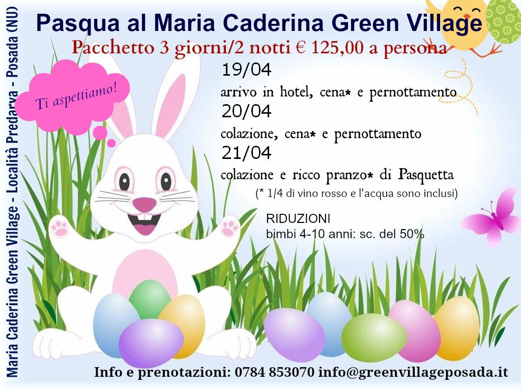 Pacchetto Offerte Pasqua e Pasquetta 2014 Hotel Maria Caderina - Green Village Posada (NU)