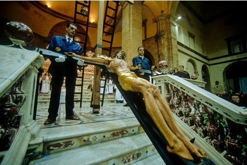 Alghero Cristo in Croce. Settimana Santa.