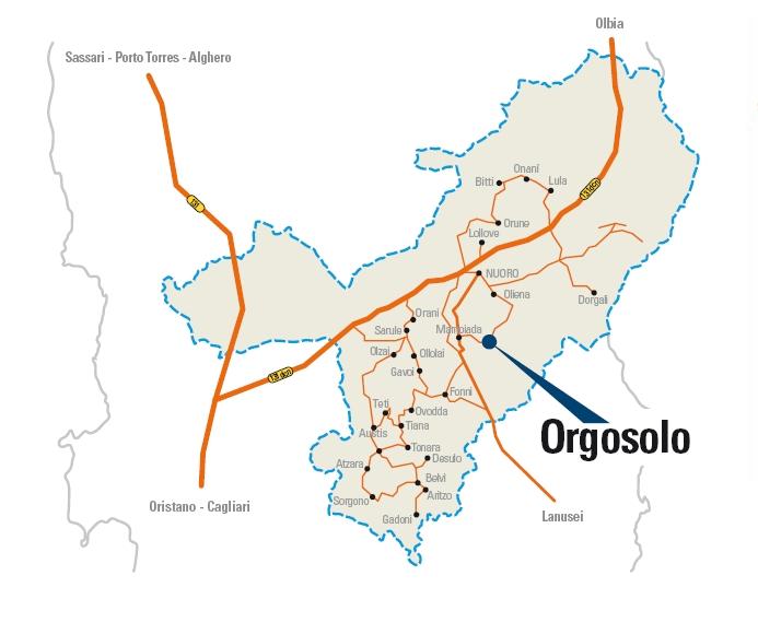 Cartina Autunno in Barbagia Orgosolo 2012, Gustos e nuscos 20 21 Ottobre, Cortes apertas