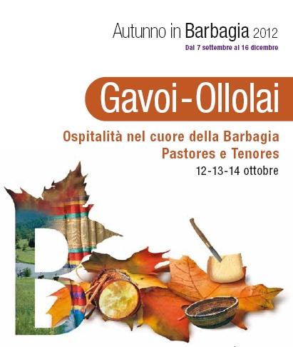 Gavoi-Ollolai Programma Autunno in Barbagia 2012, 12-13-14 ottobre Pastores e Tenores