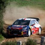 Mikko Hirvonen con la Citroen nel Rally di Sardegna Costa Smeralda