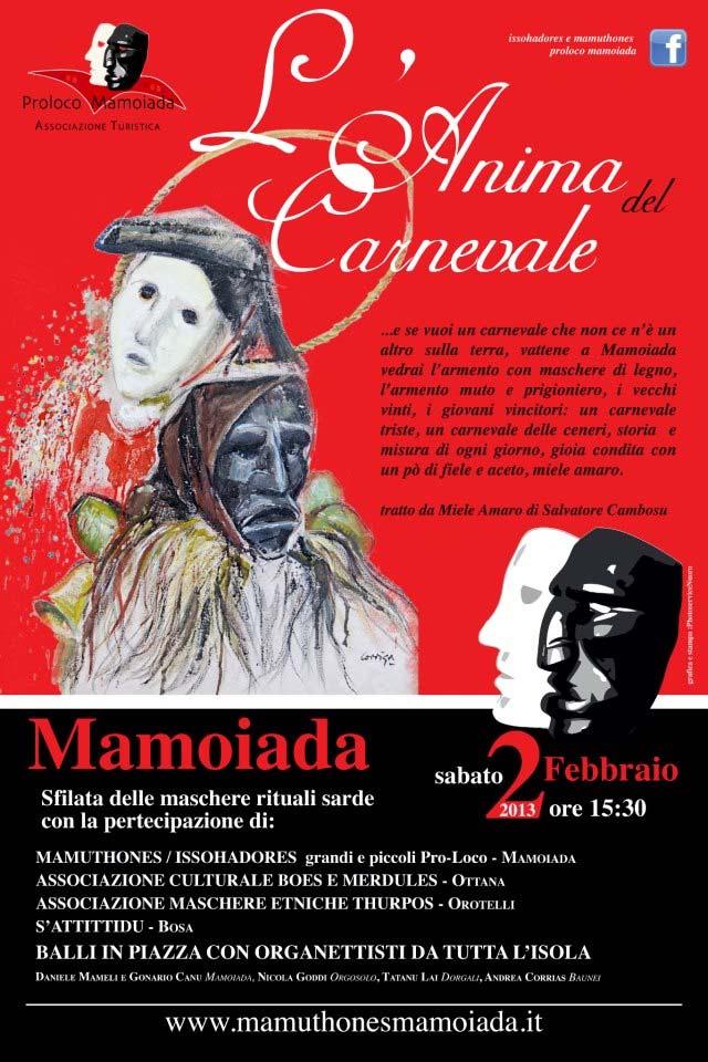 Carnevale 2013 a Mamoiada, Carnevale in Sardegna 2013.