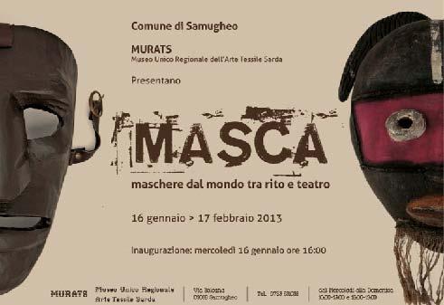 Evento Comune di Samugheo Maschere dal Mondo tra Rito e Teatro, gennaio febbraio 2013.