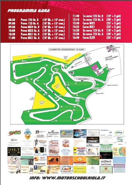 MOTOCROOS Riola Sardo 3 Febbraio 2013 programma completo