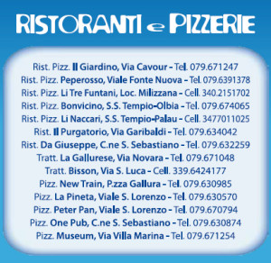 ristoranti pizzerie carnevale tempiese 2013