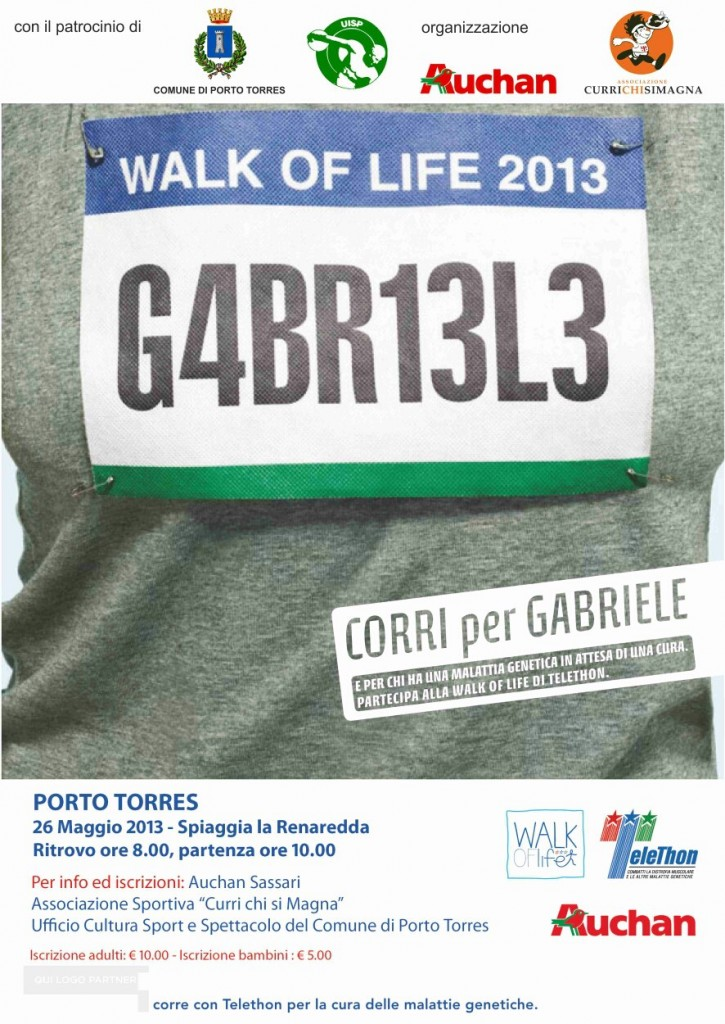 Telethon 26 maggio 2013 Porto Torres