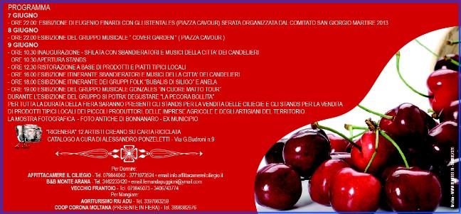 Programma Fiera delle Ciliege Bonnaro 7 8 9 giugno 2013