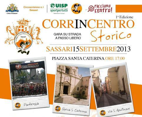 CorrinCentro Sassari 15 settembre 2013 ore 17:00 piazza Santa Caterina, Centro Storico.