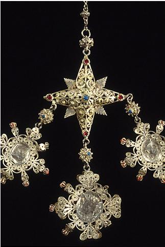 Pendente di rosario, corona, rosariu, fine del Settecento, primi Ottocento,Museo della Vita e delle Tradizioni Popolari Sarde Nuoro