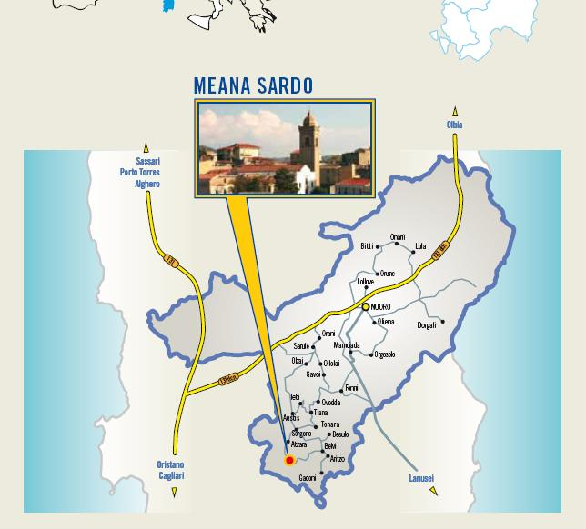 Cartina Cortes Apertas Meana Sardo 11 12 13 ottobre 2013, programma completo Autunno in Barbagia 2013