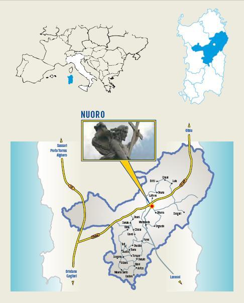 Cartina Cortes Apertas a Nuoro 15 16 17 novembre 2013, Autunno in Barbagia a Nuoro Mastros in Nugoro 15 16 17 novebre 2013