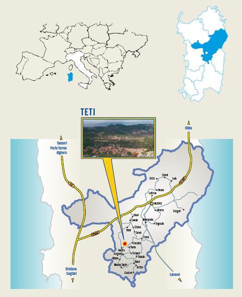Cartina Cortes apertas Teti 29 30 novembre 1 dicembre 2013 S'Iscusorzu 'e Teti