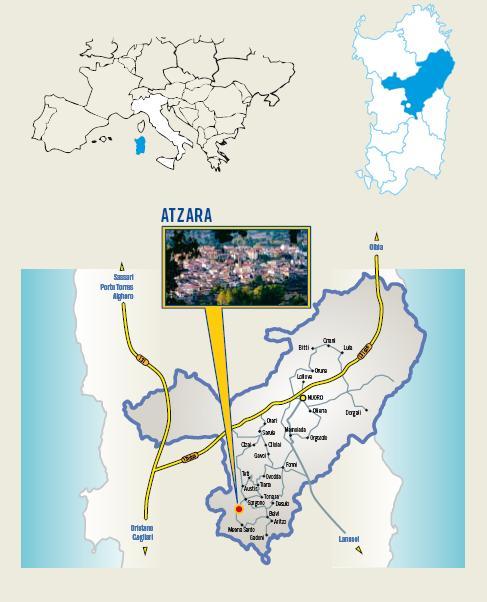 Cartina Cortes apertas ad Atzara 22 23 24 novembre 2013, Autunno in Barbagia ad Atzara Dal Vino Alla Pittura 22 23 24 novembre 2013
